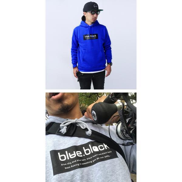 blue.black パーカー ブルーブラック パーカー BOX LOGO PULLOVER PARKA メンズ プリント バス釣り フィッシング アウトドア BBP-001|jeans-yamato|02
