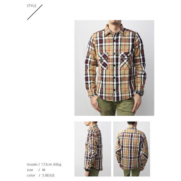 ネルシャツ メンズ 長袖 チェックシャツ メンズ 長袖 HEAVY FLANNNEL CHECK SHIRT 8色展開 ALCARZA 69-900|jeans-yamato|04