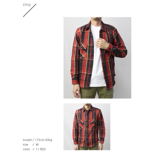 ネルシャツ メンズ 長袖 チェックシャツ メンズ 長袖 HEAVY FLANNNEL CHECK SHIRT 8色展開 ALCARZA 69-900|jeans-yamato|05