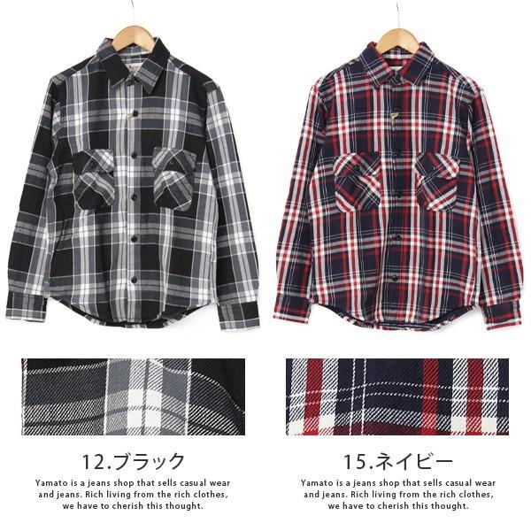 ネルシャツ メンズ 長袖 チェックシャツ メンズ 長袖 HEAVY FLANNNEL CHECK SHIRT 8色展開 ALCARZA 69-900|jeans-yamato|09