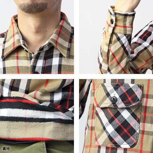 ネルシャツ メンズ 長袖 チェックシャツ メンズ 長袖 HEAVY FLANNNEL CHECK SHIRT 8色展開 ALCARZA 69-900|jeans-yamato|10