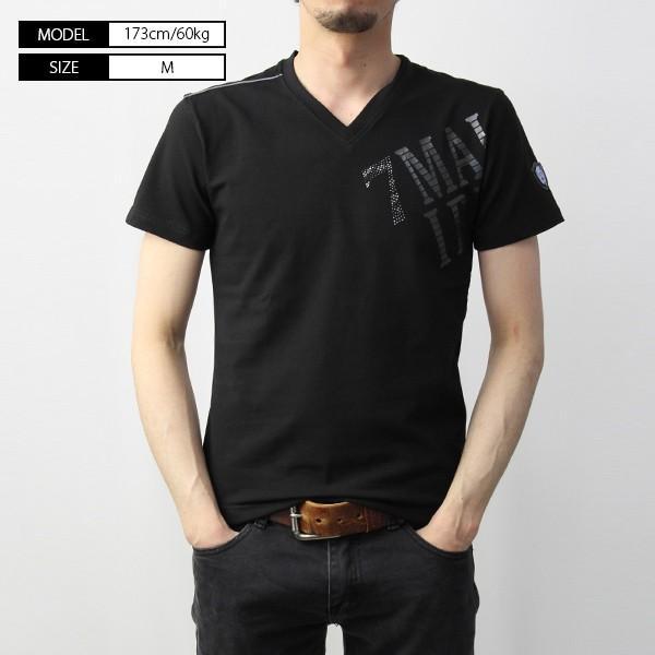 VIOLA RUMORE Tシャツ ヴィオラルモア Tシャツ Vネック マリブ イタリア イタリアン ビター系 BITTER 半袖 メンズ トップス 91331|jeans-yamato|02