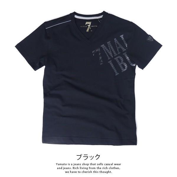 VIOLA RUMORE Tシャツ ヴィオラルモア Tシャツ Vネック マリブ イタリア イタリアン ビター系 BITTER 半袖 メンズ トップス 91331|jeans-yamato|05