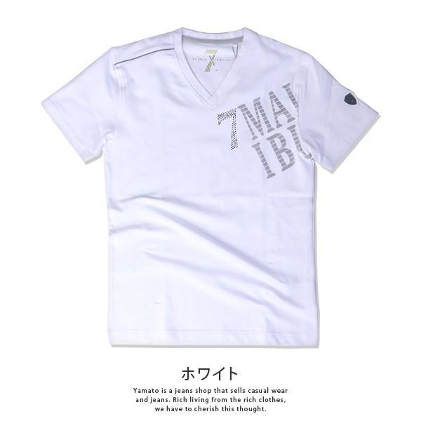 VIOLA RUMORE Tシャツ ヴィオラルモア Tシャツ Vネック マリブ イタリア イタリアン ビター系 BITTER 半袖 メンズ トップス 91331|jeans-yamato|06