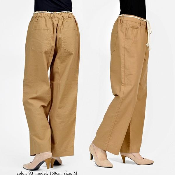 CAMEL ROAD イージードパンツ 綿麻生地 涼しいパンツ カラーイージーワイドパンツ キャメルロード ボトムス 春夏 L3-146A|jeans-yamato|06