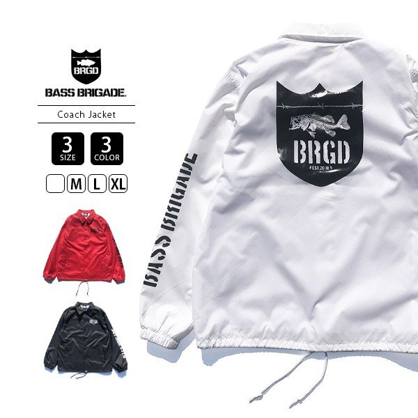 BASS BRIGADE コーチジャケット アウター メンズ バスブリゲード ブラックバス バス釣り フィッシング SSCJ01|jeans-yamato