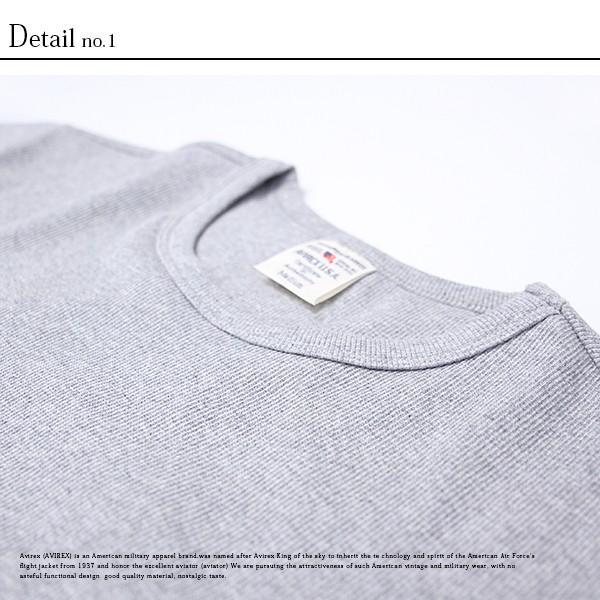 送料無料 ポイント10倍 AVIREX Tシャツ アヴィレックス Tシャツ Uネック Tシャツ 半袖 無地 クルーネック メンズ DAILY WEAR デイリーウェア 6143502|jeans-yamato|08