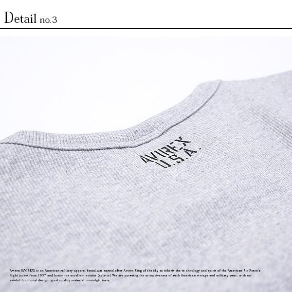 送料無料 ポイント10倍 AVIREX Tシャツ アヴィレックス Tシャツ Uネック Tシャツ 半袖 無地 クルーネック メンズ DAILY WEAR デイリーウェア 6143502|jeans-yamato|10