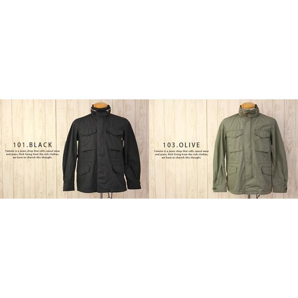 アルファ ALPHA  M-65 フィールド ジャケット コットン ポプリン ミリタリー Cotton Field Jacket TA1119|jeans-yamato|04