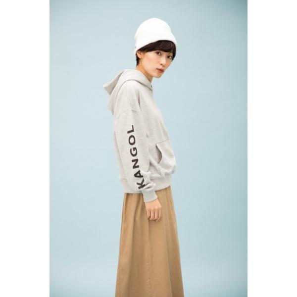 カンゴール スウェット (KANGOL) 裏毛袖プリントプルパーカー|jeansmate
