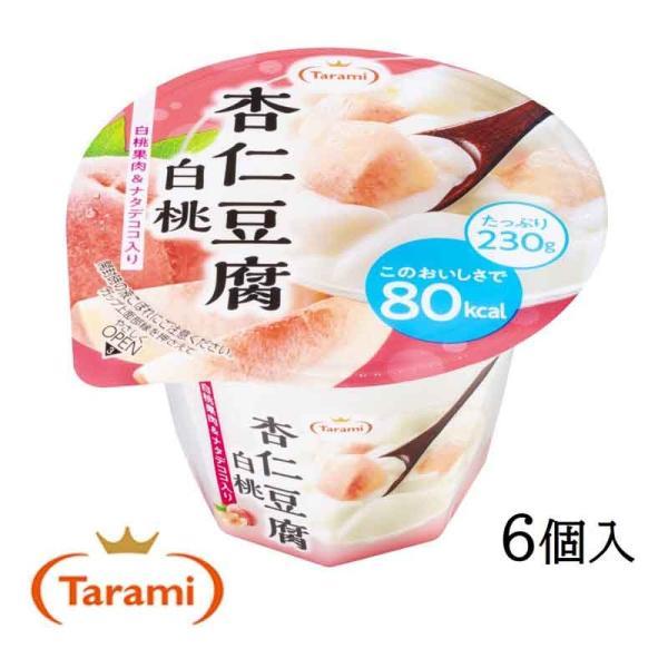 たらみ ゼリー Tarami 杏仁豆腐白桃 80kcal 230g 6個