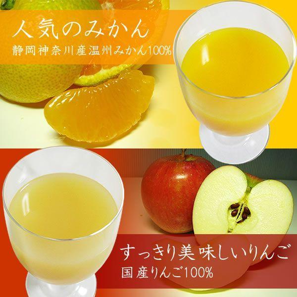 フルーツジュース 白桃 みかん オレンジ リンゴ アップルジュース 1L×6本 (包装・のし不可) 詰合せ|jerichojericho|02
