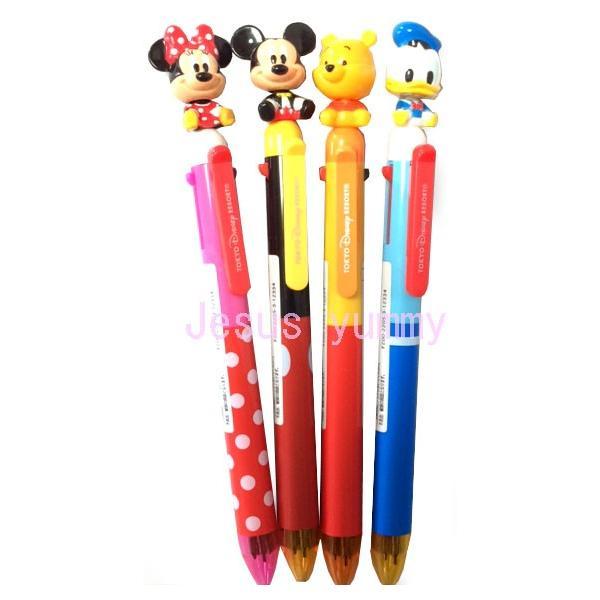 多機能ペン ボールペン3色&シャープペン ペンシル ミッキー ミニー ドナルド プーさん 東京ディズニーリゾート限定 【DISNEY】|jesusyummy