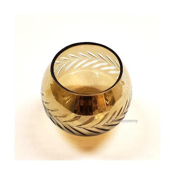 キャンドルスタンド キャンドルホルダー スモーク ゴールド ガラス 小物入れ ヨーロピアン プリンセスインテリア インテリア雑貨 アンティーク ヴィン