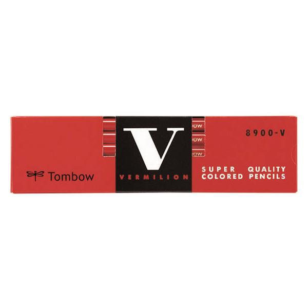 トンボ鉛筆/色鉛筆 朱/8900-V