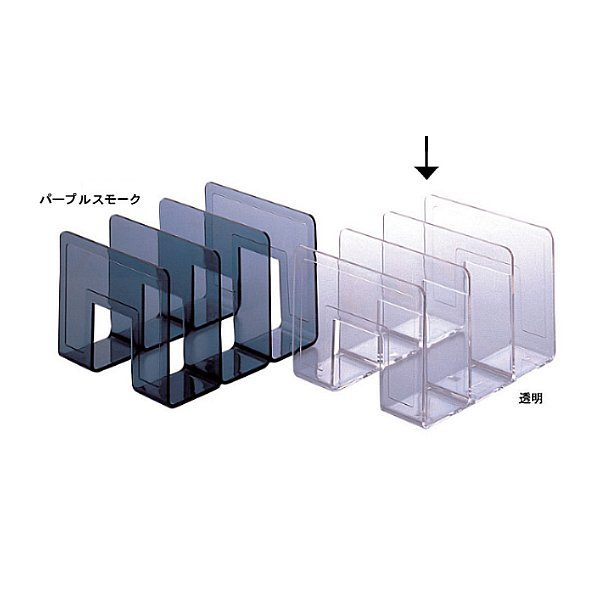 セキセイ/クリスタルラック A4 3仕切 透明/CRX-265