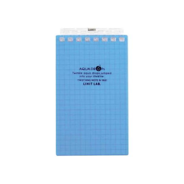リヒトラブ/ツイストノート(メモサイズ) 5mm方眼罫 青 40枚/N-1661-8