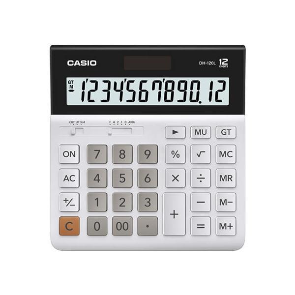 カシオ計算機/大型表示デスク型電卓 12桁/DH-120L-N
