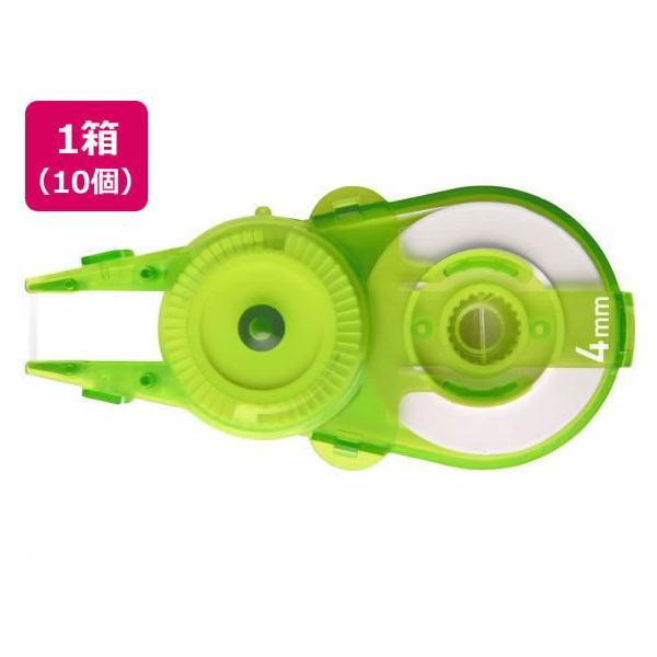 プラス/ホワイパースライド交換テープ4mmライムG WH-114R-10P/49-560
