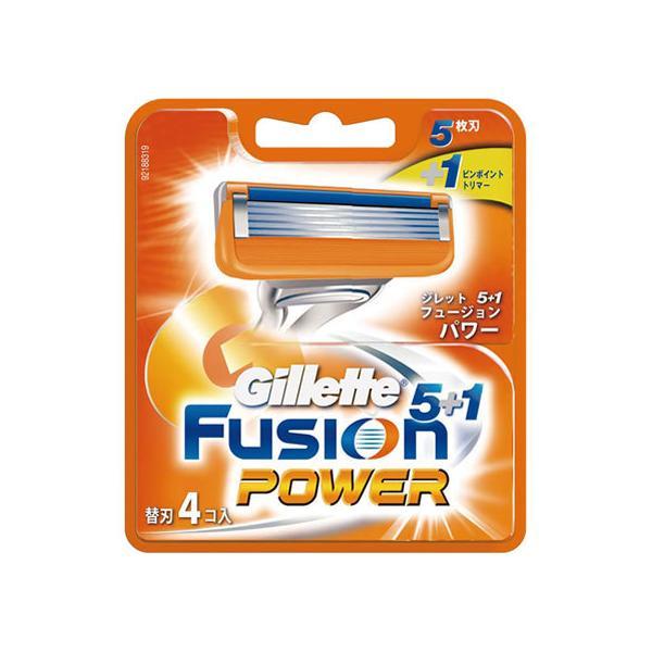 【お取り寄せ】P&G/ジレット フュージョン5+1 パワー替刃4個