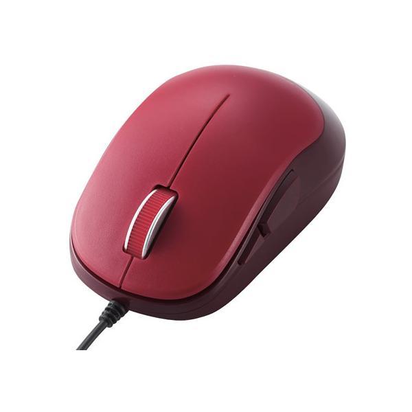 エレコム 5ボタンBlueLED有線マウス M-Y9UBRD レッドの画像