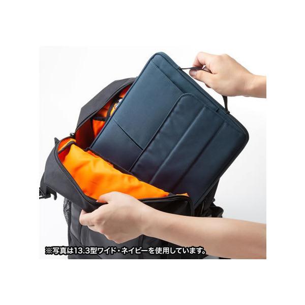 サンワサプライ/カジュアルPCインナーケース 11.6型ワイド ブラック