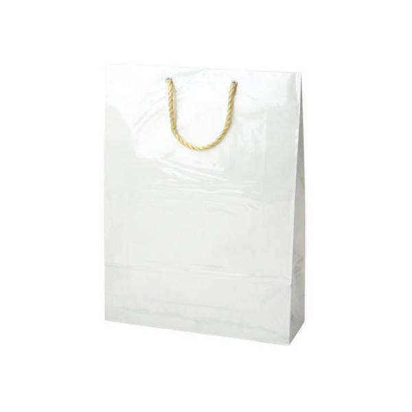 【お取り寄せ】タカ印/手提げバッグ キャリーバッグ 白 L 5枚/50-6733