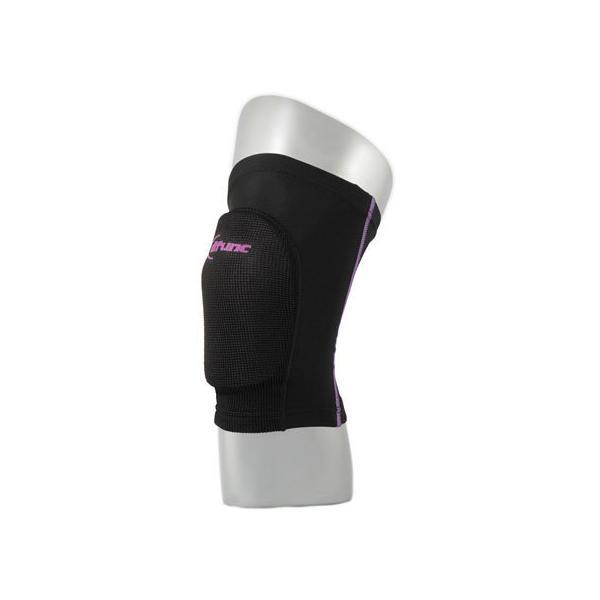 【お取り寄せ】D&M/トリコットニーパッド バレーボール用膝サポーターS ブラック×パープル