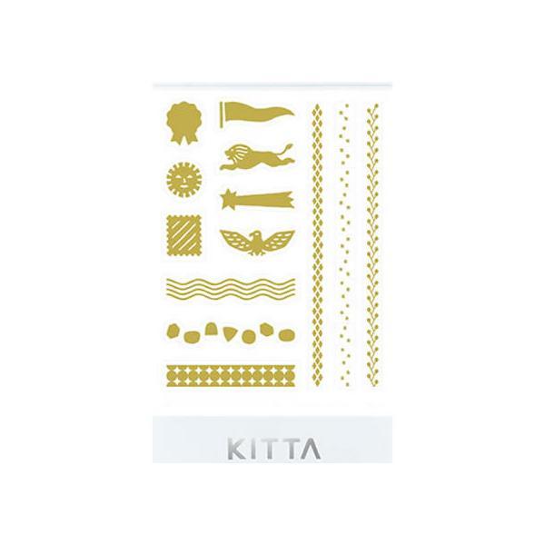 キングジム/KITTAシール バーチカル(ゴールド) 4シート/KITD018