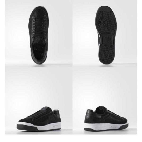 アディダス オリジナルス メンズ ロッドレーバー スニーカー ブラック adidas Men's Rod Laver Shoes|jetrag|02