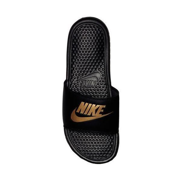 NIKE ナイキ メンズ サンダル ベナッシ ブラック ゴールド  NIKE Benassi JDI Slide Black Metallic Gold 343880 016|jetrag