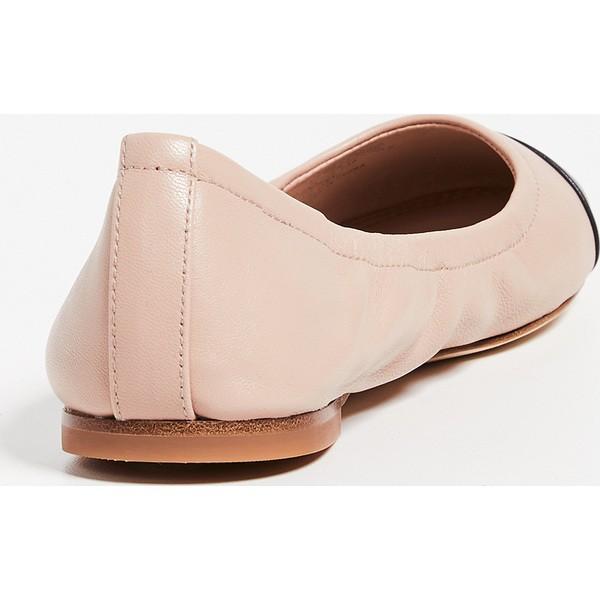 (取寄)トリーバーチ レディース キャップ トゥ バレエ フラッツ Tory Burch Women's Cap Toe Ballet Flats GoanSand Black