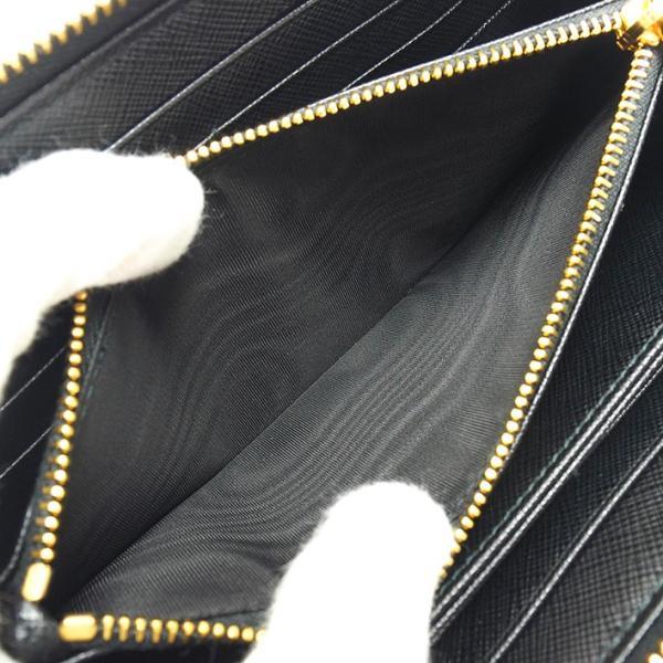 【中古】【ほぼ新品】プラダ ラウンドファスナー ロングウォレット ゴールド金具 サフィアーノメタル 1ML506 【長財布】