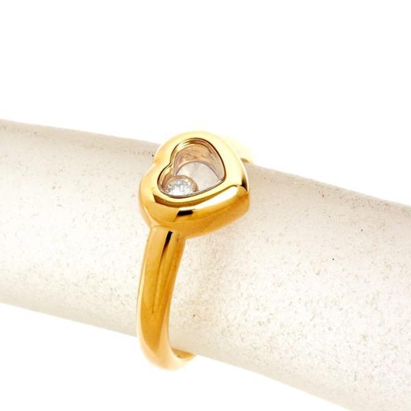 【新品仕上げ済み】ショパール ハッピー ダイヤモンド アイコンリング 18金イエローゴールド【リング】【中古】