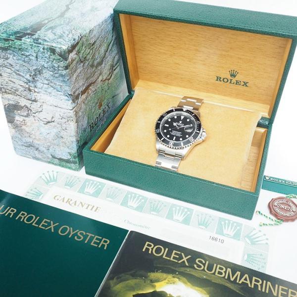 ロレックス サブマリーナ Ref. 16610 メンズ ROLEX SUBMARINER【中古】【腕時計】 jewel-shot 09