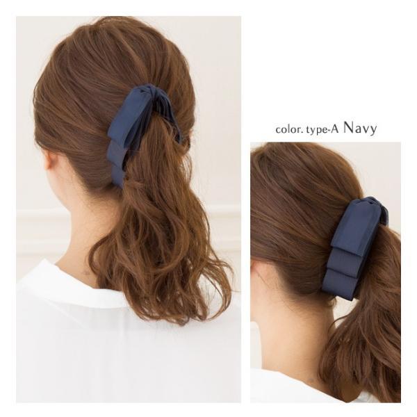 バナナクリップ ヘアアクセ 大きめ  ヘアアクセサリー リボンモチーフ 3連 リボン ヘアクリップ 女性  ゆうパケット送料無料 まとめ髪 袴 髪飾り|jewel-vox|08
