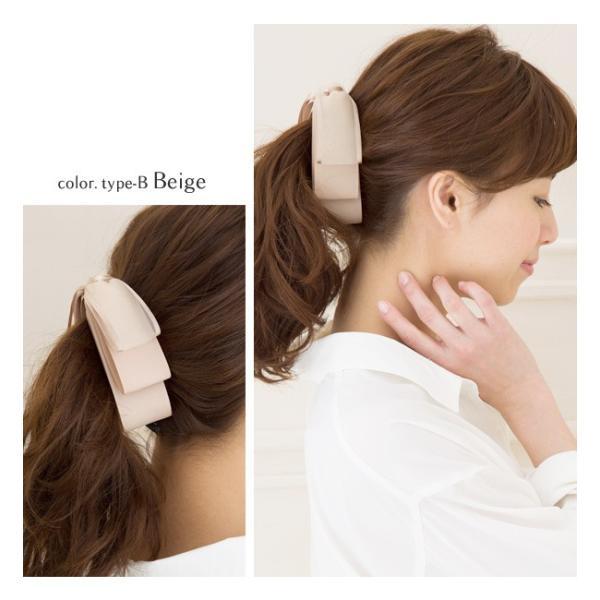 バナナクリップ ヘアアクセ 大きめ  ヘアアクセサリー リボンモチーフ 3連 リボン ヘアクリップ 女性  ゆうパケット送料無料 まとめ髪 袴 髪飾り|jewel-vox|09