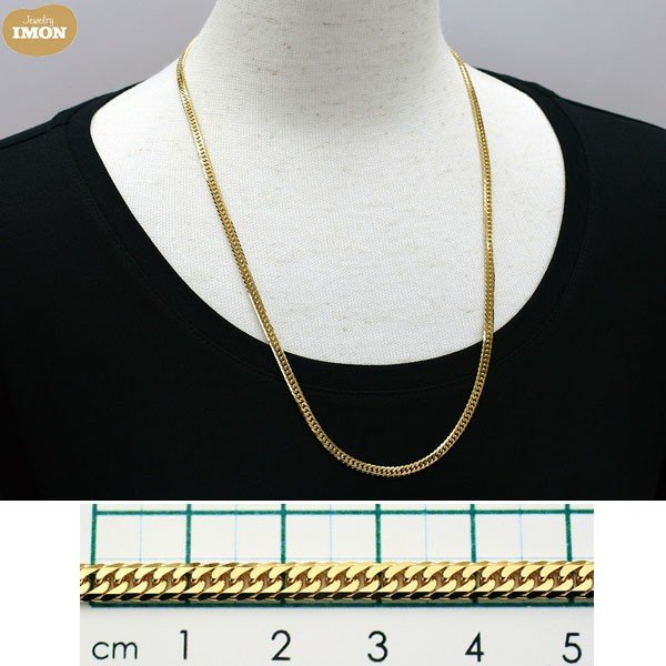 K18 喜平 ネックレス 6面 カット ダブル 30g 60cm|jewelry-imon|03