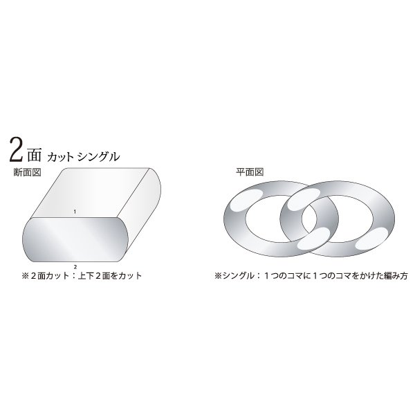 プラチナ 喜平 ネックレス 2面 PT850 10g 60cm 引輪|jewelry-imon|05