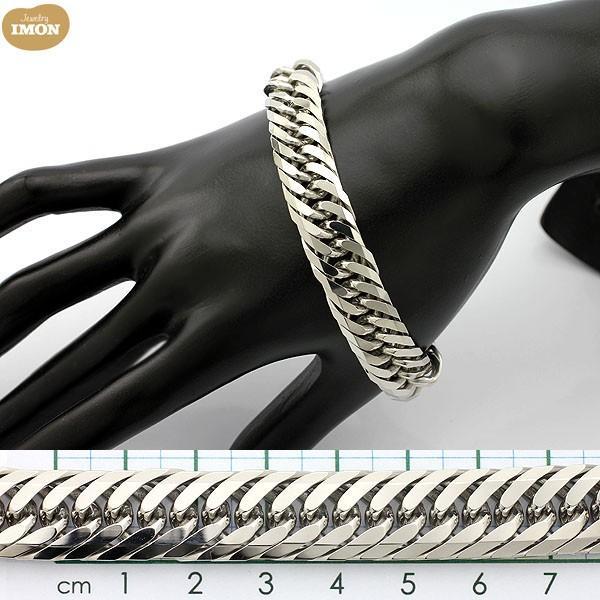 PT850 喜平 ブレスレット 8面 カット トリプル 100g 21cm|jewelry-imon|03