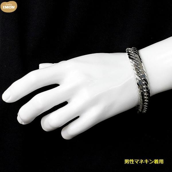 PT850 喜平 ブレスレット 8面 カット トリプル 100g 21cm|jewelry-imon|04