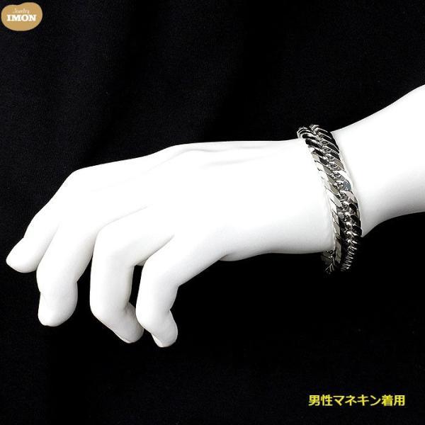 PT850 喜平 ブレスレット 8面 カット トリプル 100g 21cm|jewelry-imon|05