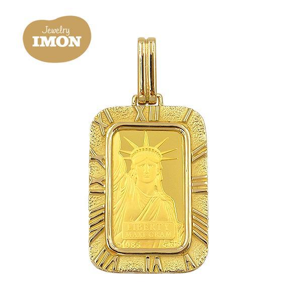 純金 K24 リバティ インゴット 5g K18枠 ペンダント jewelry-imon