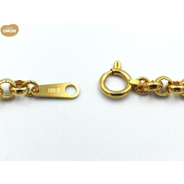 純金 K24 エンジェル コイン 1/25oz K18枠 ブレスレット ガラス付|jewelry-imon|03