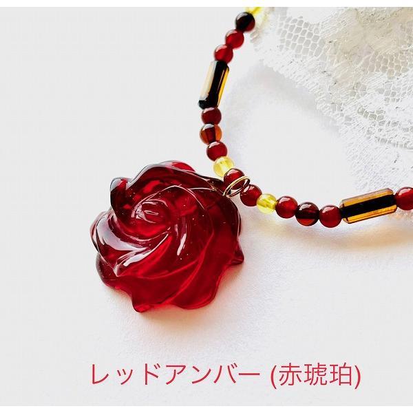 【送料無料】 (赤色琥珀) ブレスレット 琥珀 パワーストーン レッドアンバー