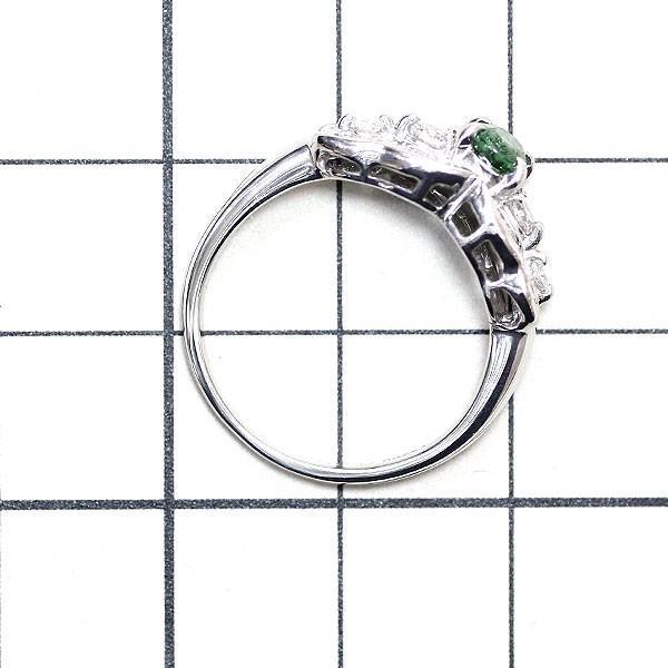 Pt900 グリーングロッシュラライ ガーネット ダイヤモンド リング 0.45ct D0.56ct定額商品