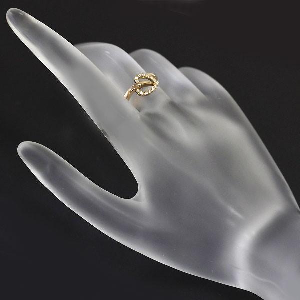 ヴァンドーム青山 K18PG ダイヤモンド 植物 リング定額商品
