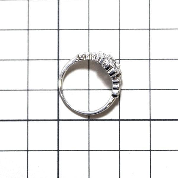 Pt900 ダイヤモンド フラワー リング 0.508ct H SI1 F D0.58ct定額商品