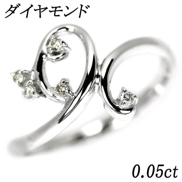 K18WG ダイヤモンド リング D0.05ctジュエリーNJ