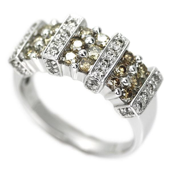 K18WG ダイヤモンド リング D1.00ctジュエリーNJ